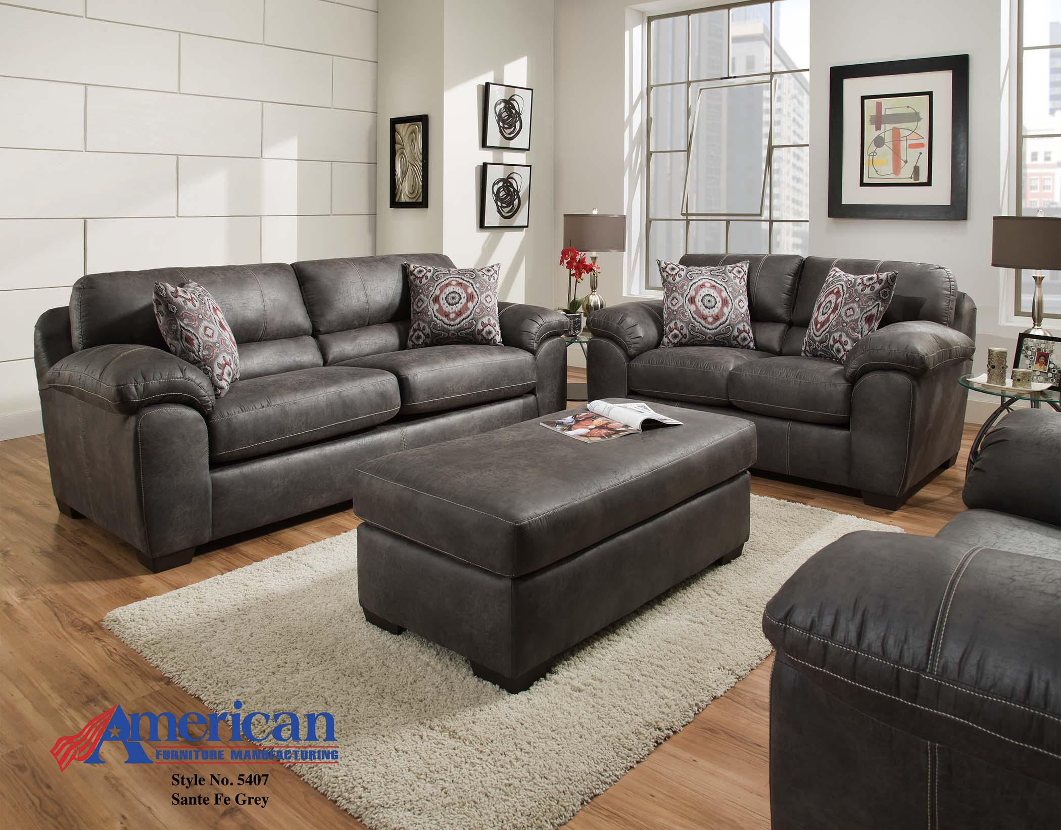 5407 Santa Fe Silt Sofa American Furniture Manufacturing