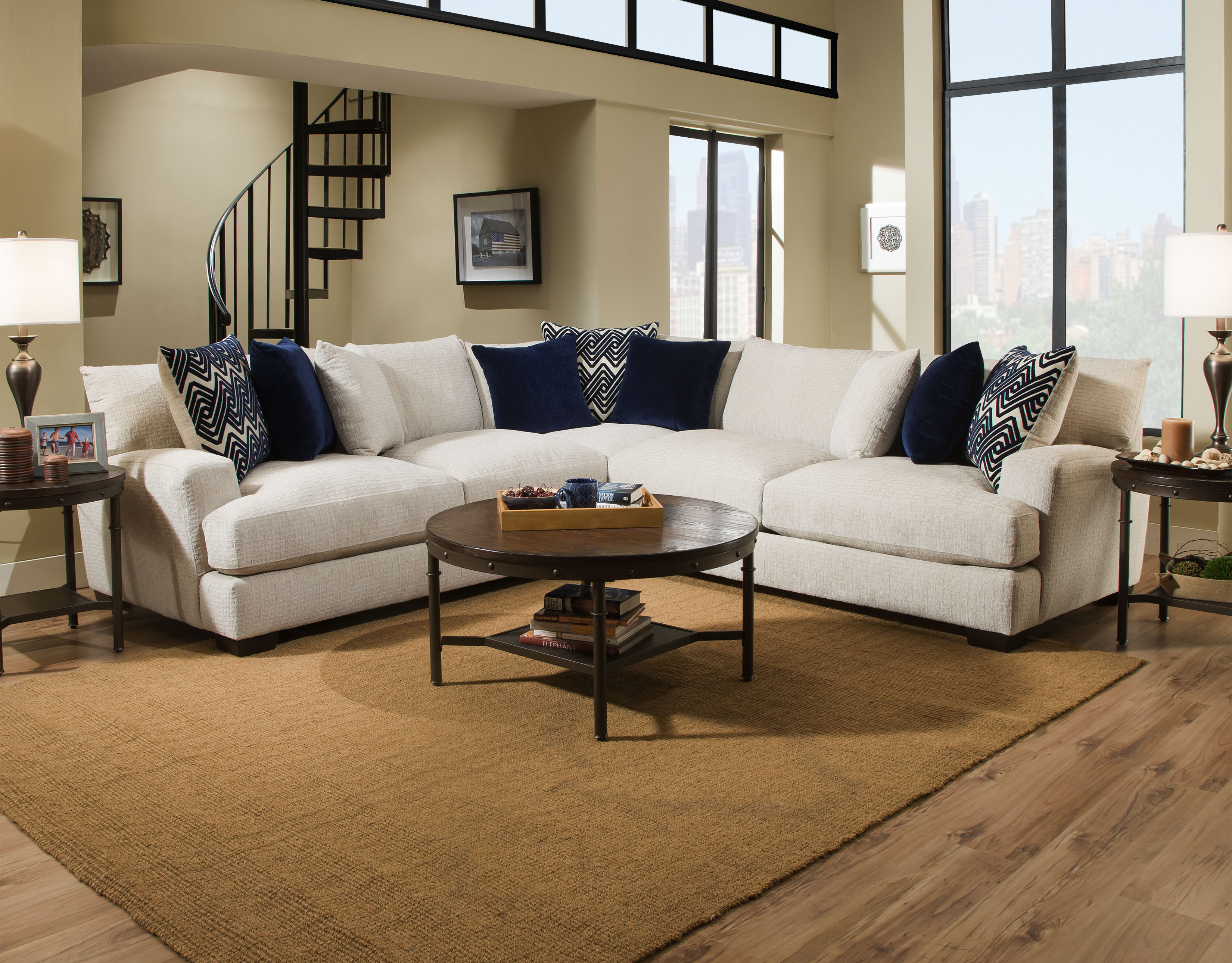American Furniture Sectionals 1600 Ultimate Platinum Sectional Image Download