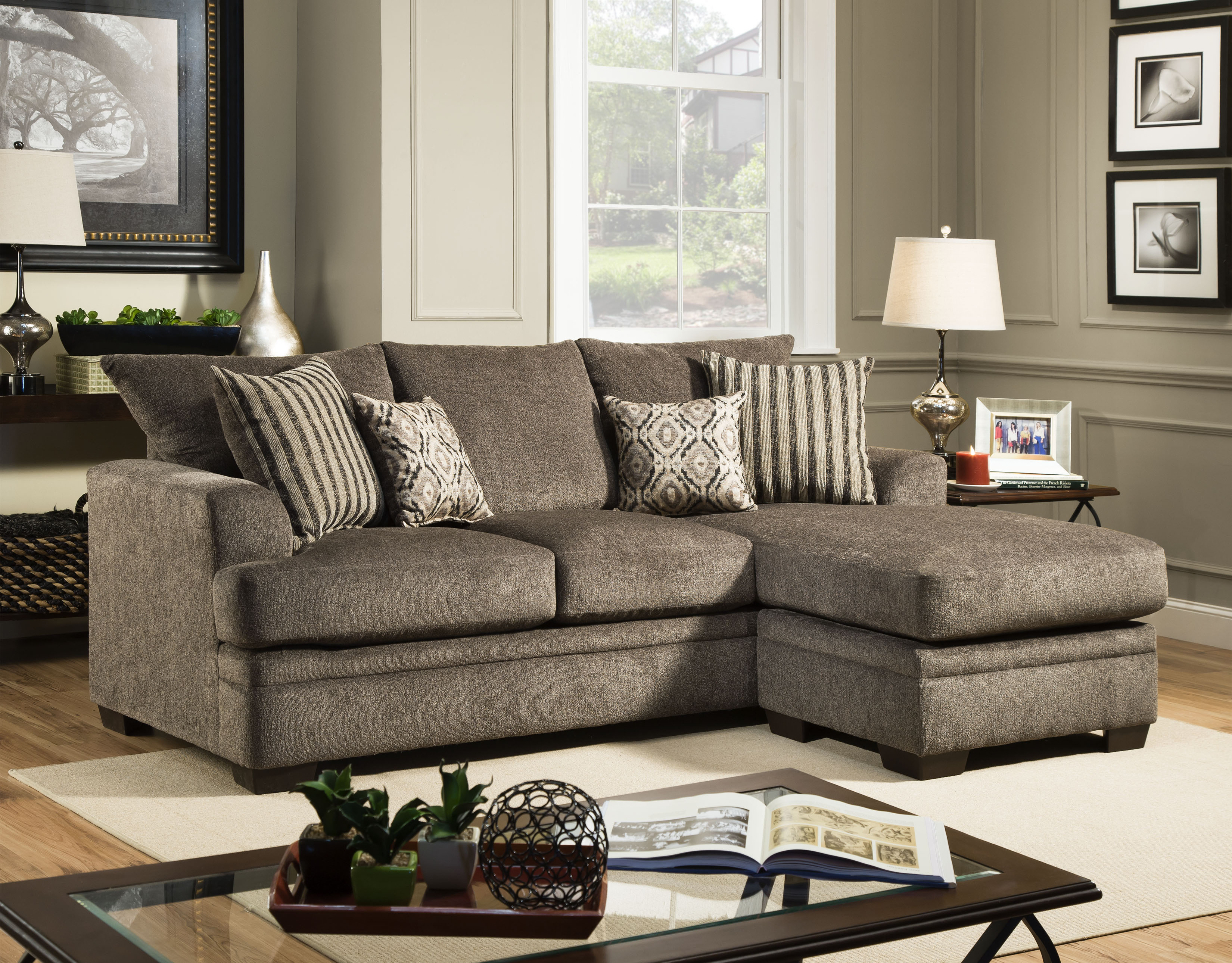 3650 Cornell Platinum Sofa American Furniture